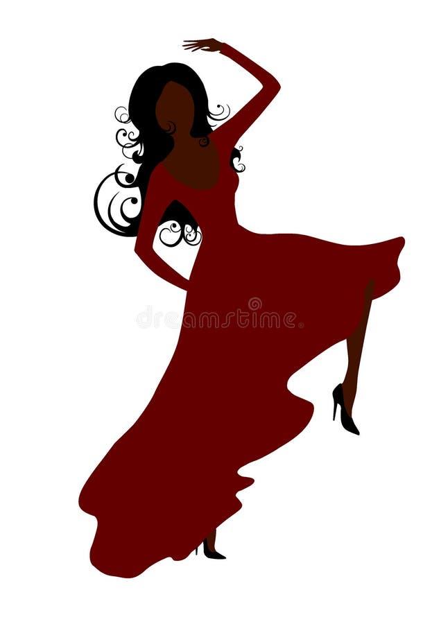 Download Dancing woman stock vector. Illustration of latino, spanish - 7968726