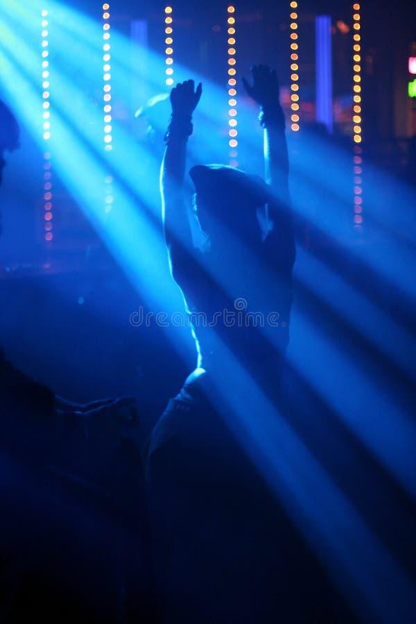 Dancing woman in nightclub royalty free stock image