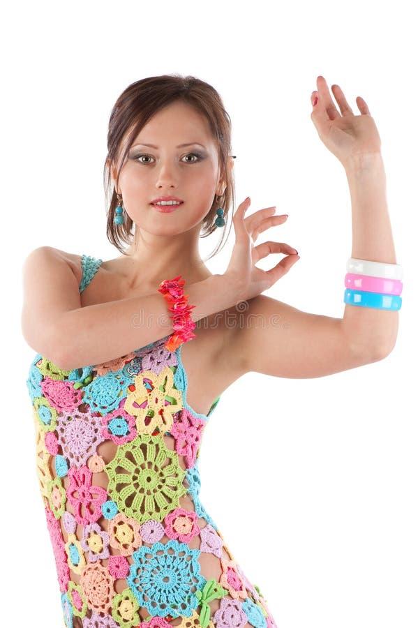dancing woman young στοκ εικόνα