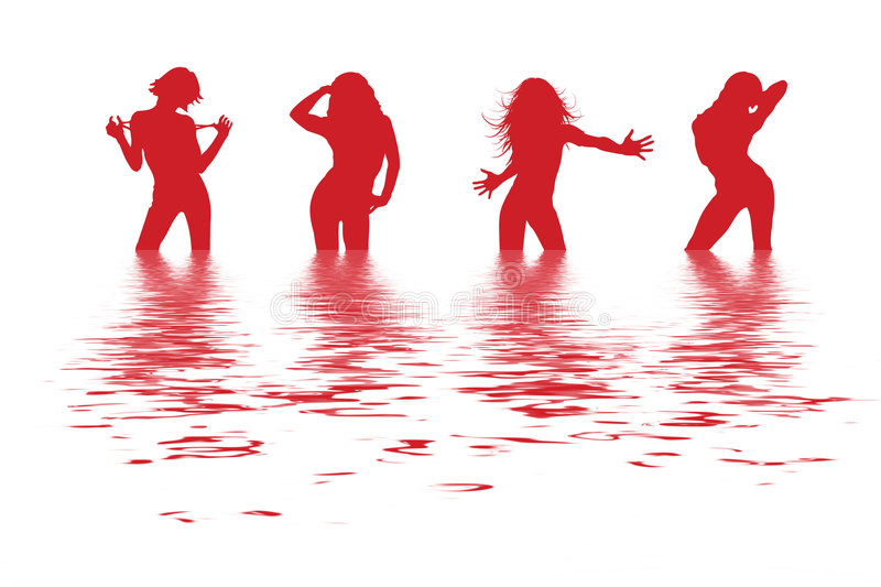 Dancing women royalty free stock images