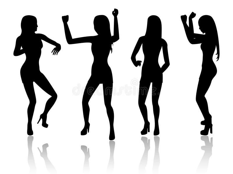 Download Dancing women stock illustration. Image of beautiful, people - 5930377