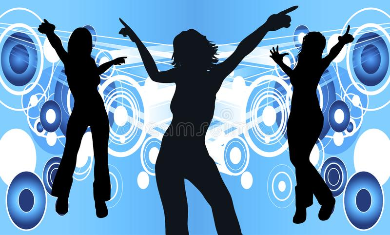 Dancing Women royalty free stock photos