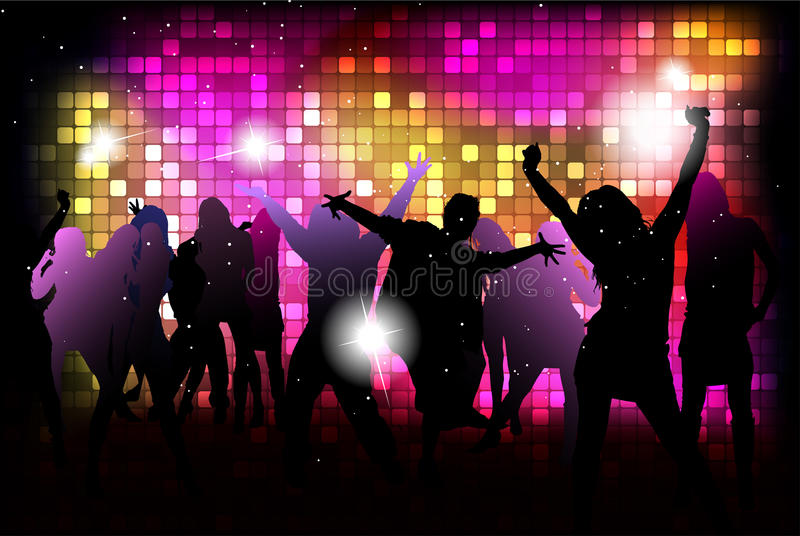 Dancing young people stock image