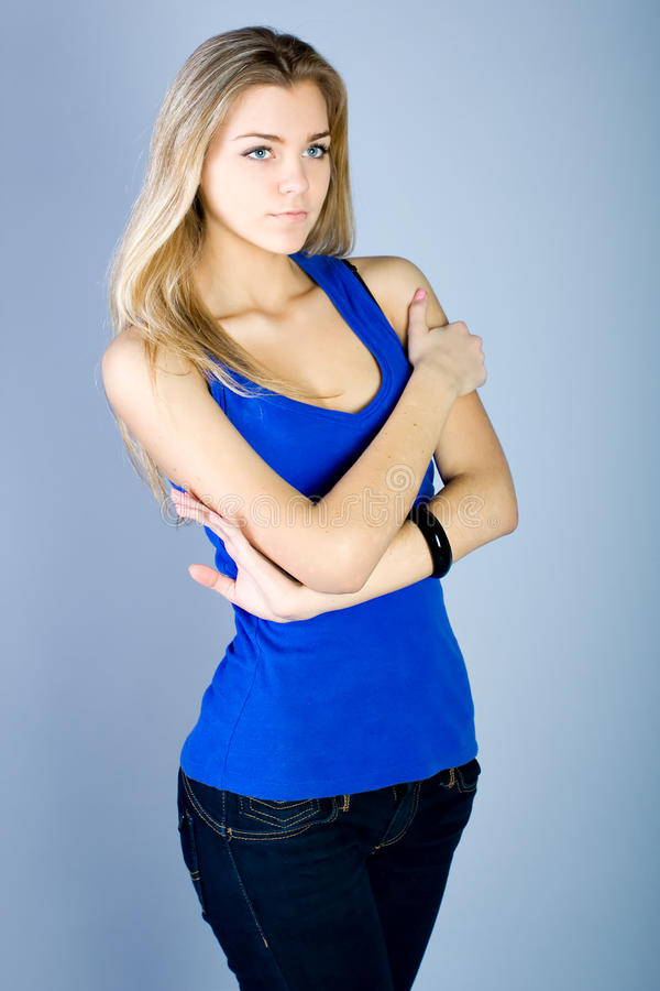 Download Dancing Young Woman Portrait Stock Image - Image: 13394367