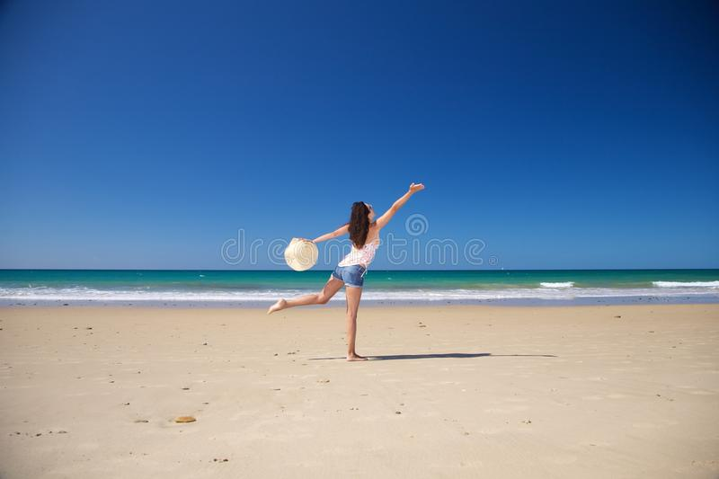 Download Dancing at Zahara beach stock image. Image of cadiz, blue - 18420007