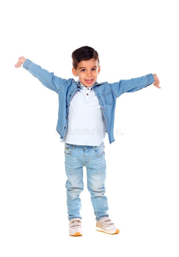 Dancing zingaresco felice del bambino fotografia stock