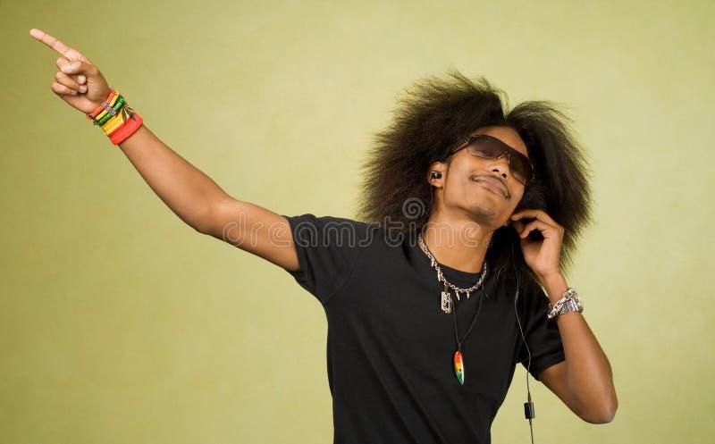 dancingowa Amerykanin afrykańskiego pochodzenia samiec zdjęcie royalty free