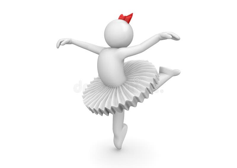 dancingowa baleriny spódniczka baletnicy ilustracja wektor