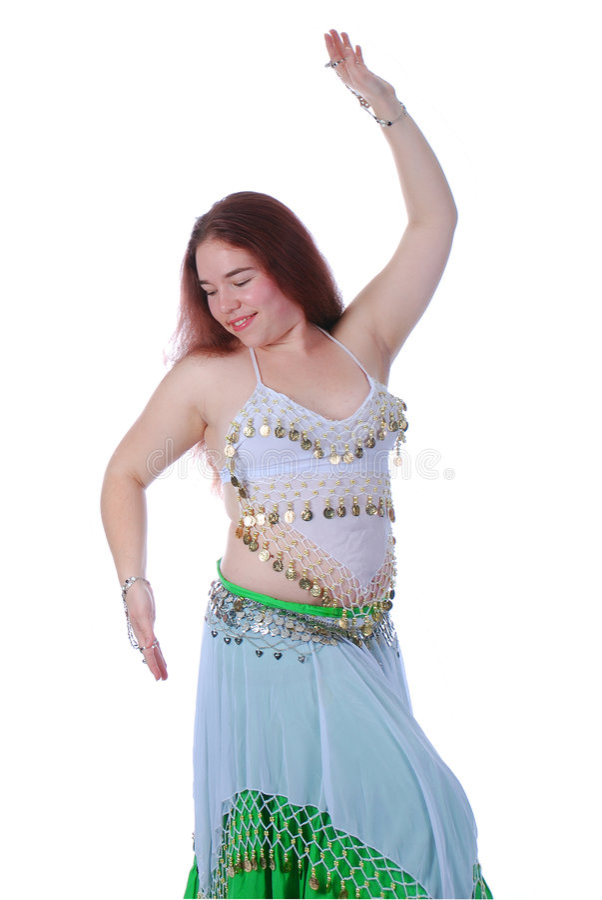 dancingowa brzuch dziewczyna jeden obraz stock