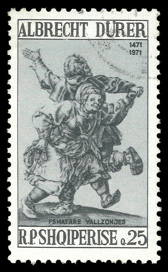 Dancingowa chłopska para Albrecht Durer royalty ilustracja