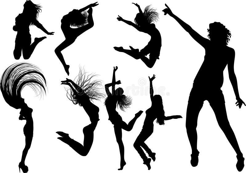 Dancingowa dziewczyna ilustracja wektor