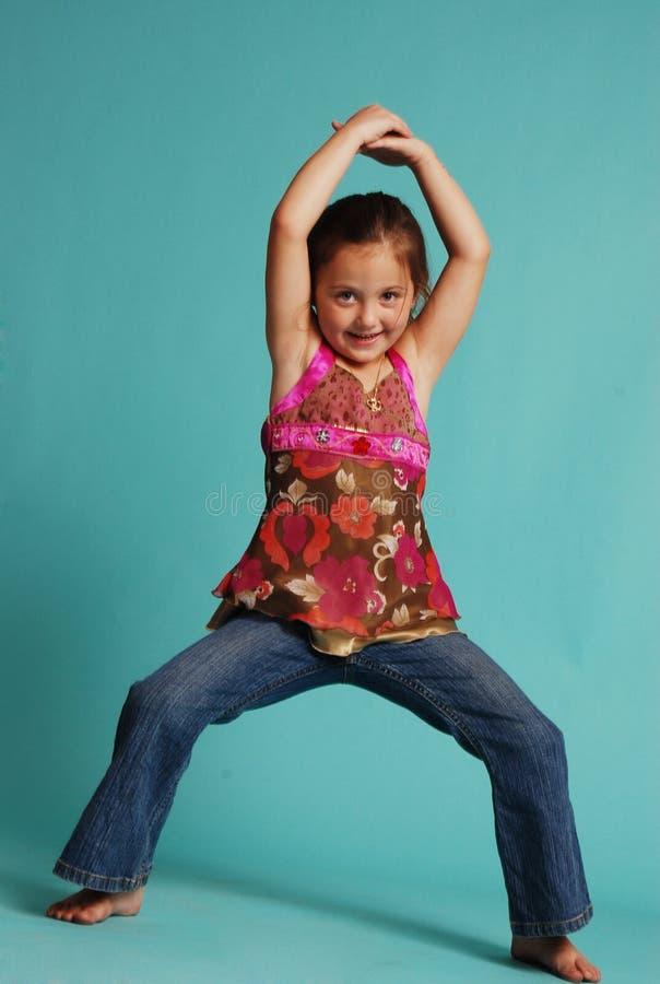 dancingowa dziewczyna zdjęcie royalty free