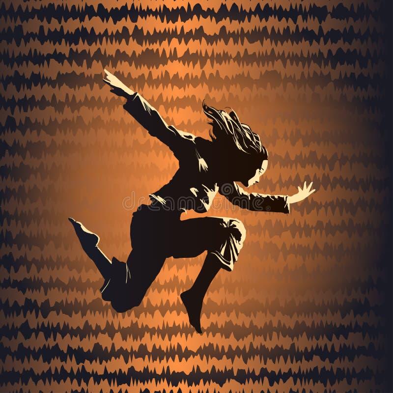 dancingowa dziewczyna royalty ilustracja