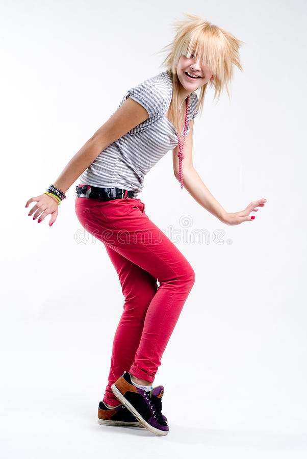 dancingowa dziewczyna nastoletnia zdjęcia royalty free