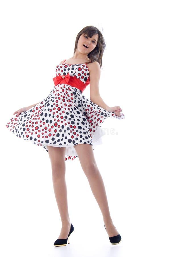 dancingowa dziewczyna romantyczna obrazy stock