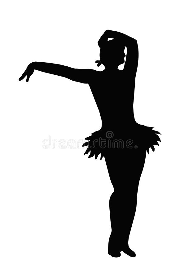 dancingowa dziewczyny ręki ofiara royalty ilustracja