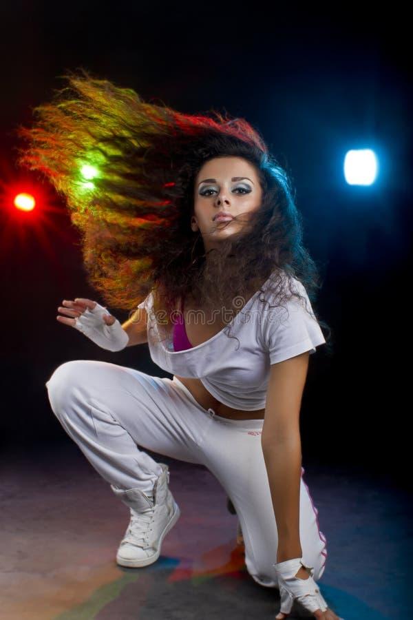 Dancingowa kobieta fotografia stock
