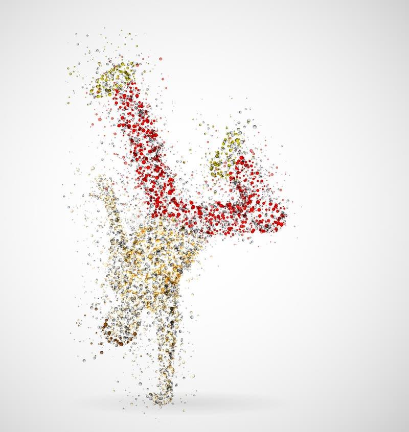 dancingowa samiec royalty ilustracja