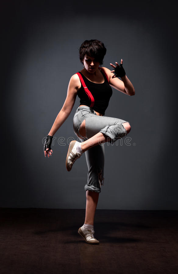 dancingowa ulicy stylu kobieta fotografia royalty free