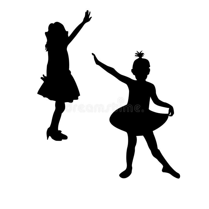 dancingowe dziewczyny royalty ilustracja