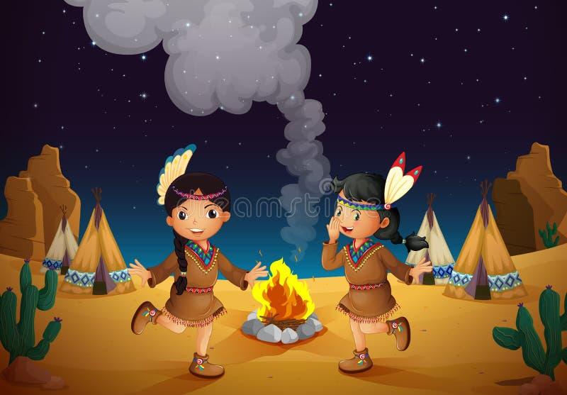 Dancingowe dziewczyny ilustracji