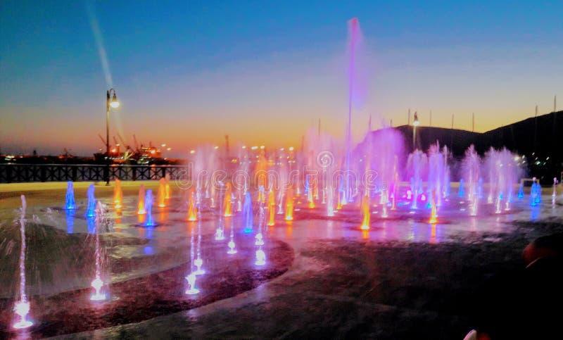 Dancingowe fontanny obrazy royalty free