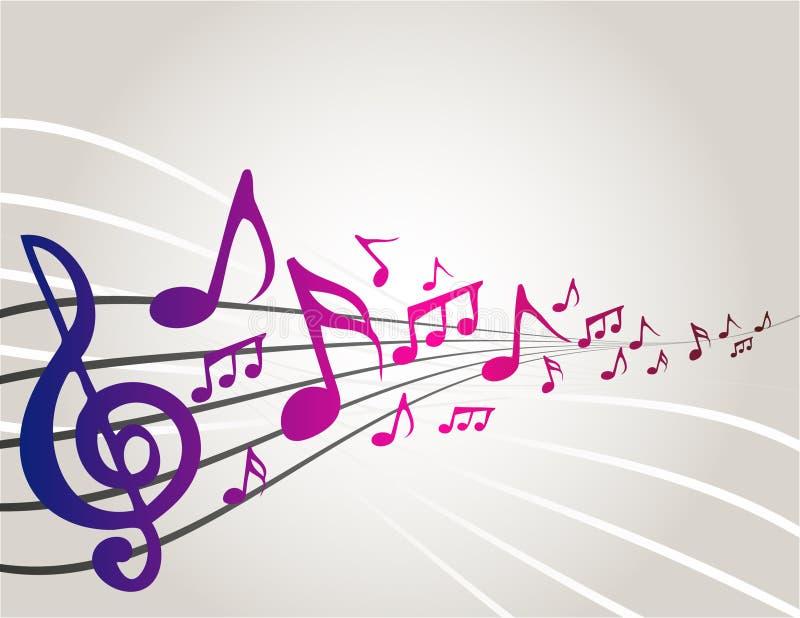 dancingowe muzyczne notatki royalty ilustracja