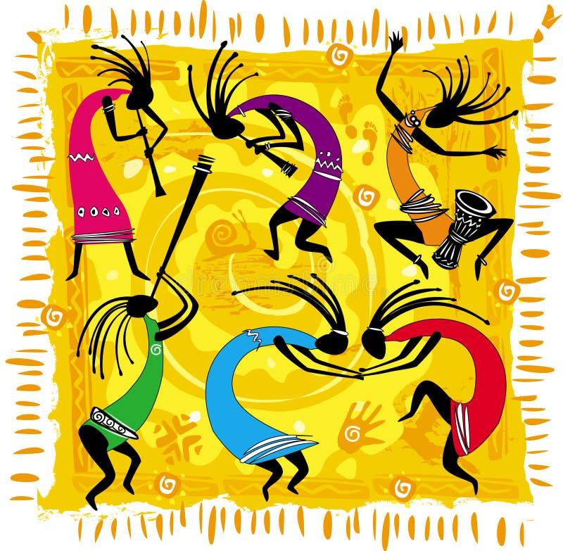 dancingowe postacie ilustracji