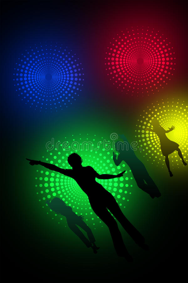 Dancingowe sylwetki ilustracji