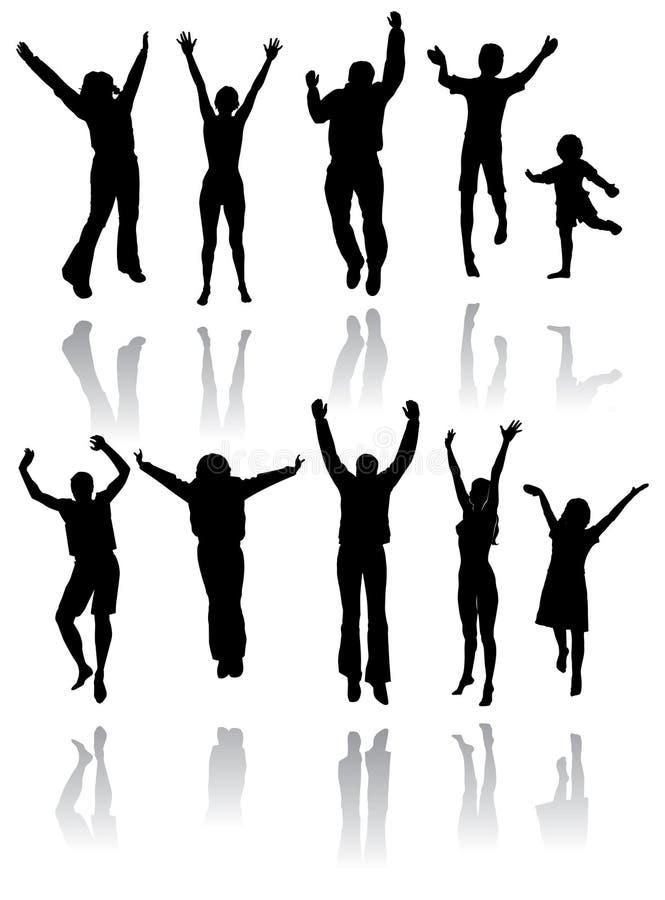 dancingowe sylwetki ilustracja wektor