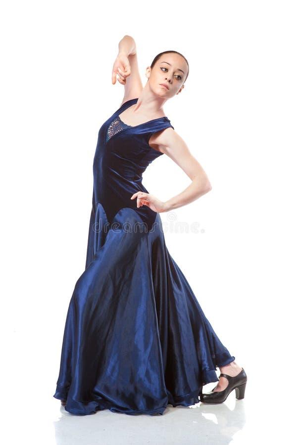 dancingowego flamenco odosobneni białej kobiety potomstwa zdjęcia royalty free