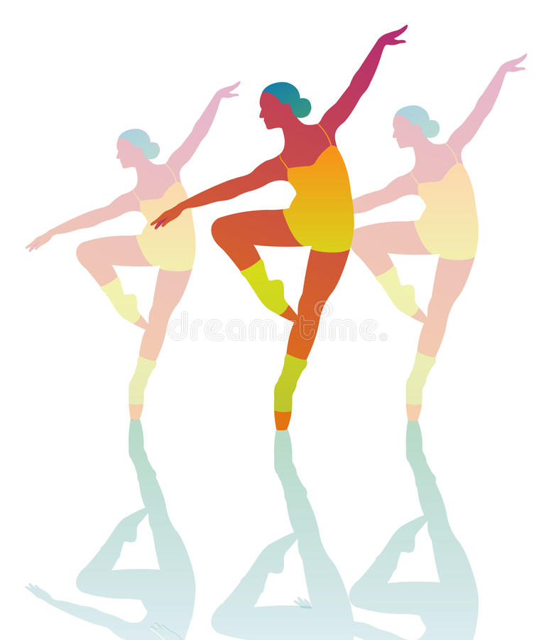 Dancingowej dziewczyny akrobacje zdjęcie stock