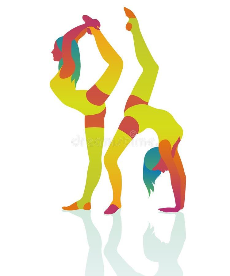 Dancingowej dziewczyny akrobacje piękne obrazy stock
