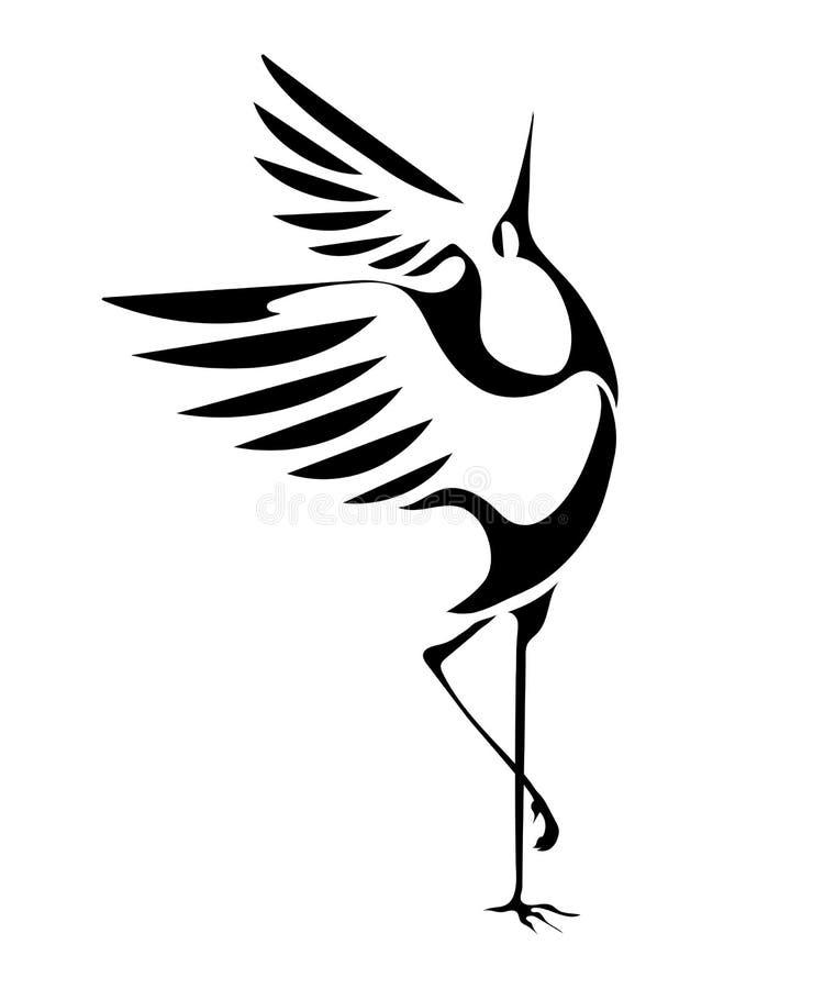 Dancingowi żurawie 1 royalty ilustracja