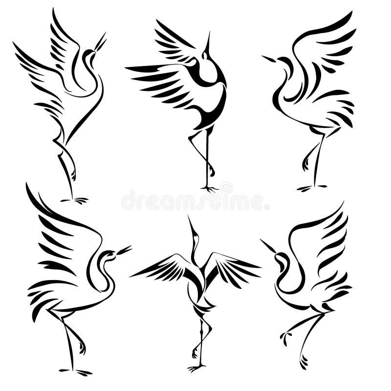Dancingowi żurawie 19 royalty ilustracja