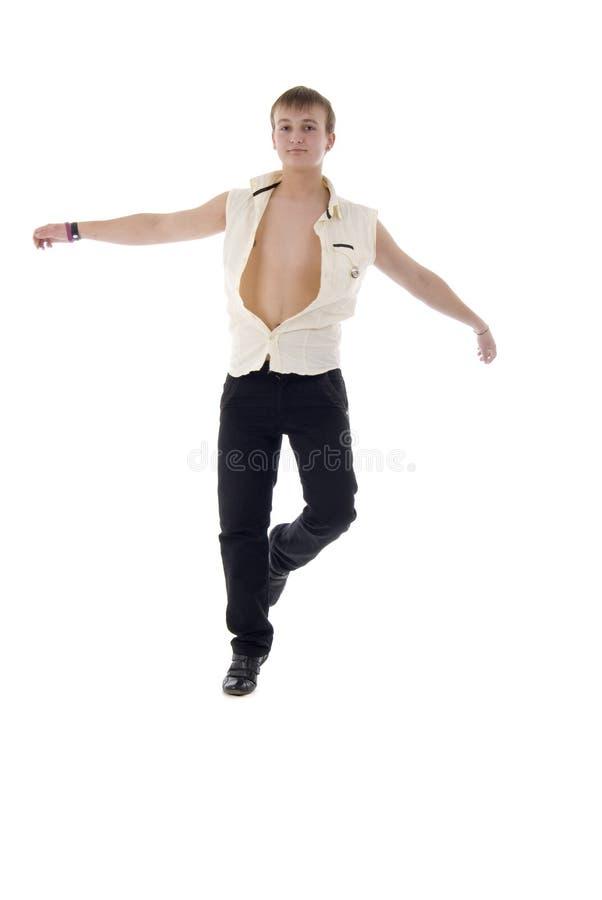 dancingowi doskakiwanie mężczyzna potomstwa fotografia royalty free