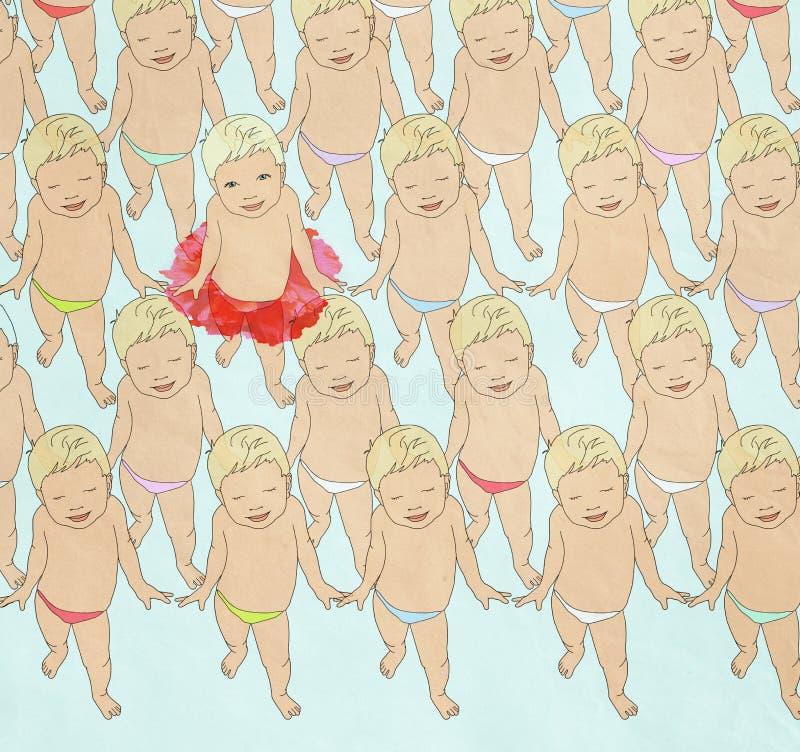 Dancingowi dzieci royalty ilustracja