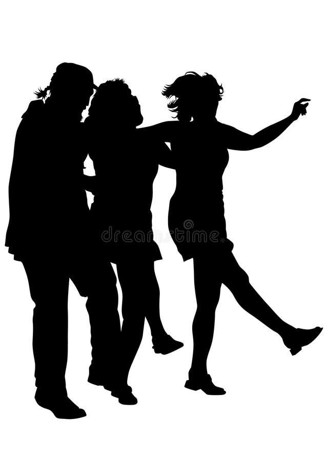 Dancingowi Irlandzcy ludzie trzy ilustracji
