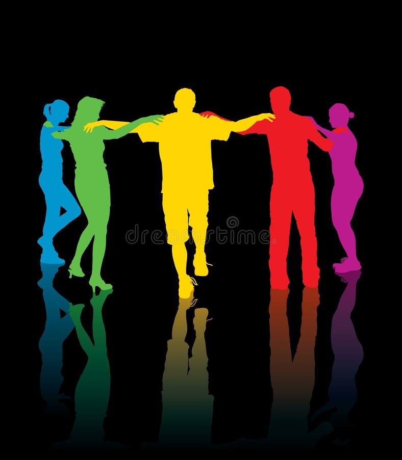 dancingowi ludzie ilustracji
