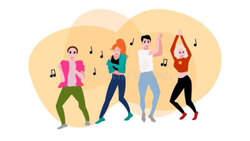 Dancingowi ludzie wektor ilustracji ilustracja wektor