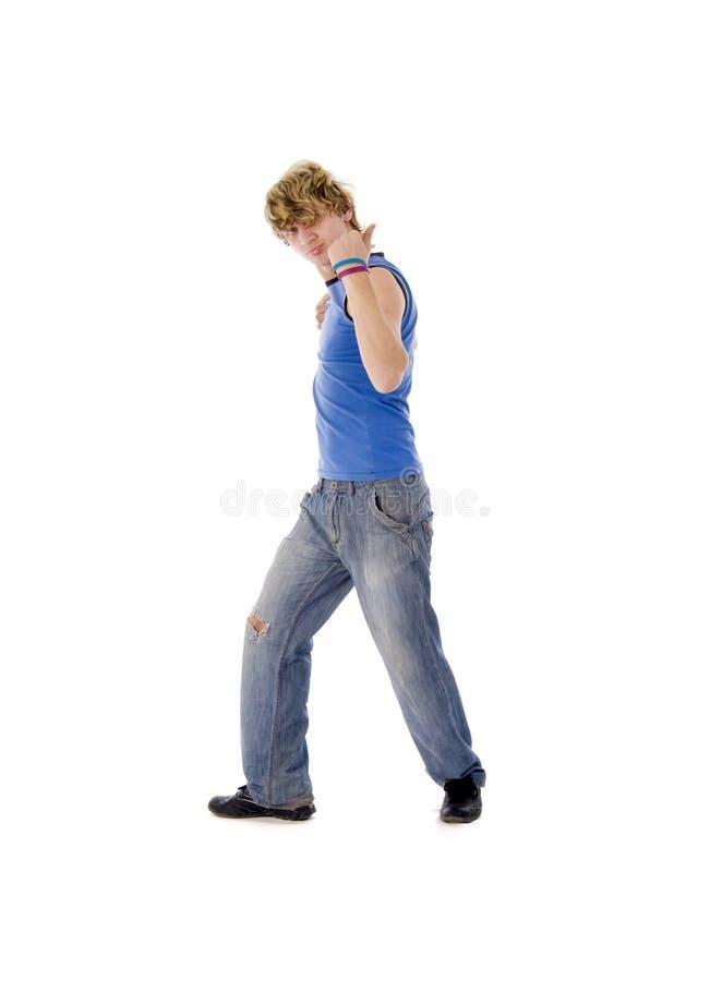 dancingowi mężczyzna potomstwa obraz royalty free