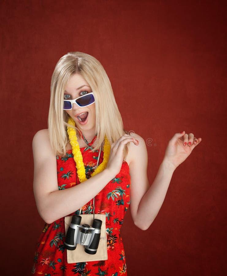 dancingowy żeński turysta zdjęcia royalty free