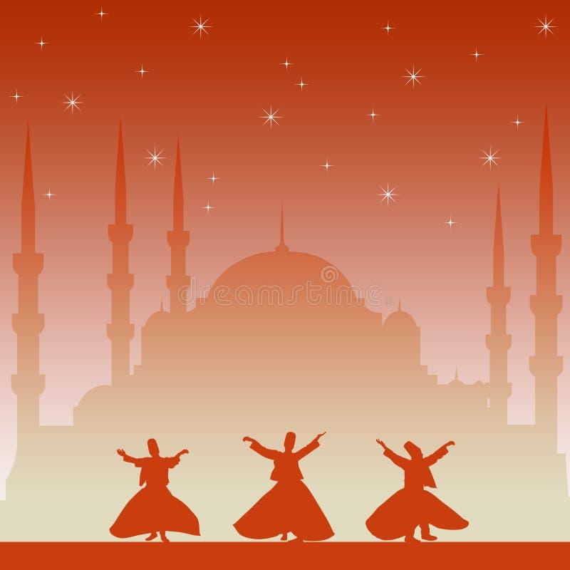Dancingowy derwisj royalty ilustracja