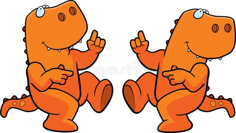 dancingowy dinosaur ilustracji