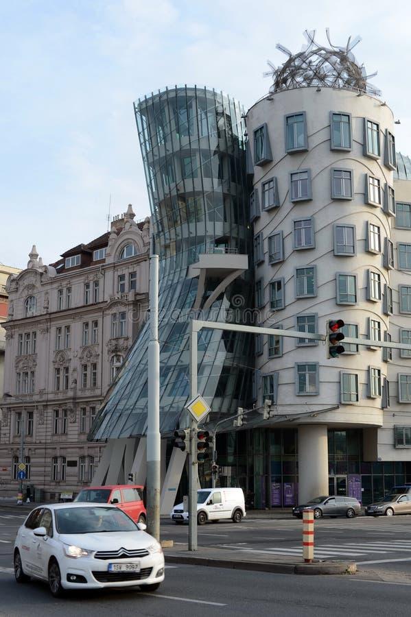 Dancingowy dom w Praga w stylu deconstruction obrazy royalty free