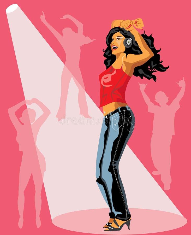 dancingowy dziewczyny ilustraci wektor royalty ilustracja