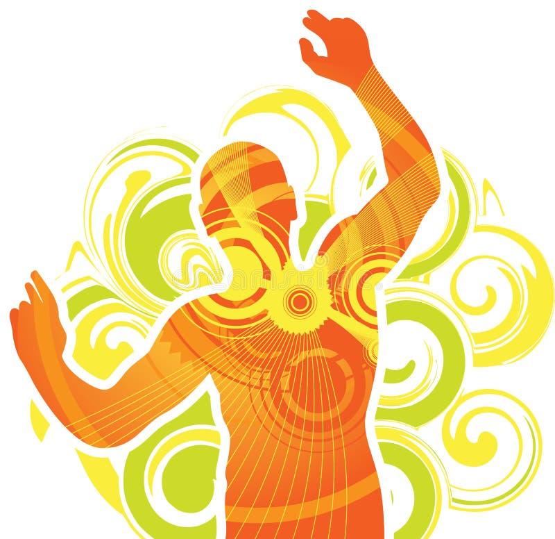 dancingowy mężczyzna ilustracja wektor