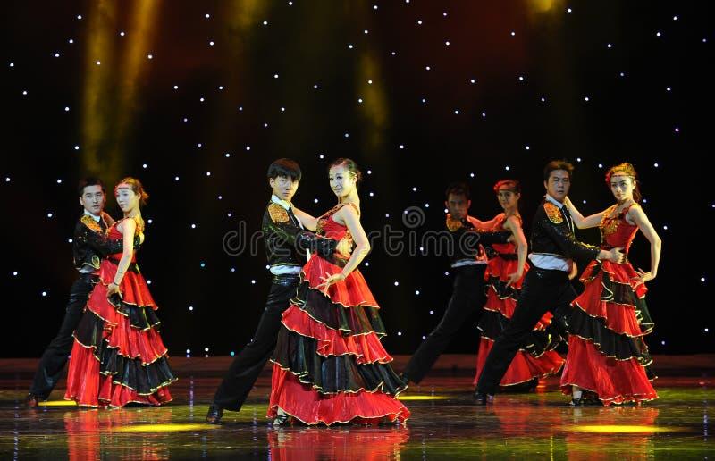 Dancingowy partner ---Hiszpański Krajowy taniec zdjęcie royalty free