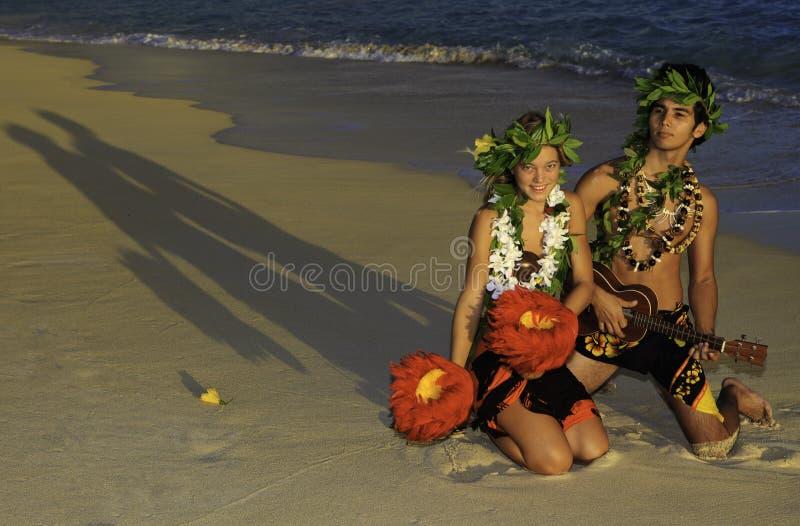 dancingowy pary hula zdjęcie royalty free