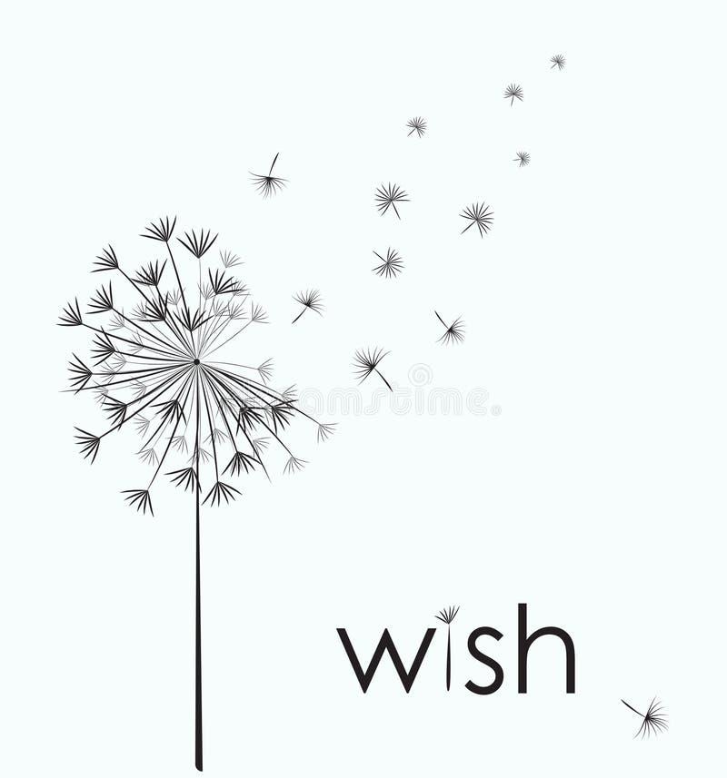 Dandelion życzenie royalty ilustracja